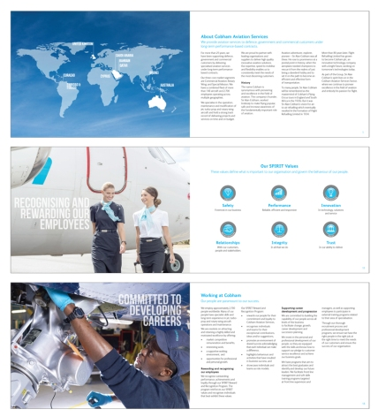 Corporate brochure for Cobham Aviation Services